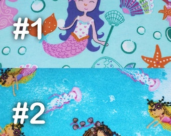 "Mermaids and Sea Life Starfish Seashells Extra Large Receiving Blanket - 36"" x 42"""