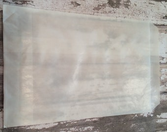 """100 Glassine Waxed Paper Bags, 4 1/2"""" X 6 3/4"""".  Favor Bags, Party, Wedding, Shower, Candy, Baked Goods, Packaging"""
