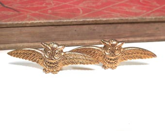 Raw Brass Owl Cuff Links - Flying Bird - Bird of Prey - Hogwarts - Soldered - Wizarding - Wizardry - Harry Potter - Hedwig