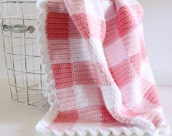 Crochet Pink Gingham Blanket Pattern