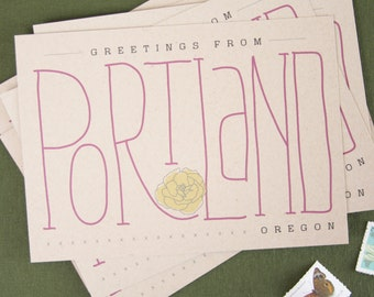 Postcards  //  Set of 6  //  Greetings from Portland Oregon