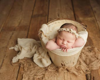 PICK 3 - REGULAR LENGTH Premium Natural Newborn Wrap - Large Cheesecloth Wrap - Baby Wrap - Photo Prop