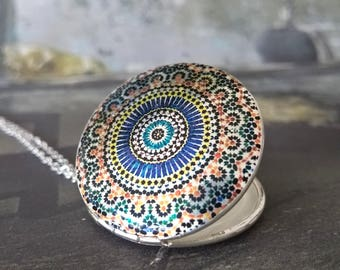 locket necklace, silver Locket,locket, necklace, sterling silver Locket, vintage locket,orient,abstract,