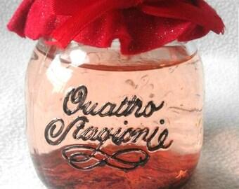 Glass jar, Christmas decoration, Christmas decorations, snow-effect jar, Christmas decor, holiday decor