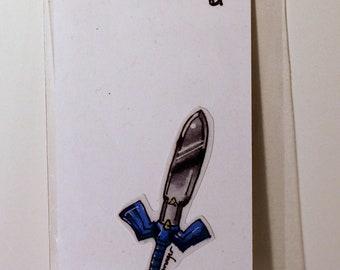 Master Sword Legend of Zelda Wind Waker Hand-Made Sticker