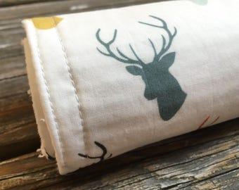 Burp Cloth ~ Boho//Tribal//Deer//Native//Rustic//Nature//Antlers