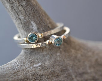 Apatite Ring- alternative engagement ring, tiny promise ring, delicate ring, gemstone ring, dainty stone ring, something blue