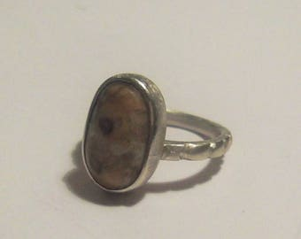 Silver Ring with natural stone