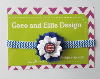 chicago cubs headband-newborn cubs headband-Cubs headband for toddler-cubs headband for baby-infant cubs headband-chicago cubs