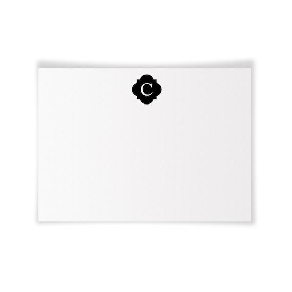 C Monogrammed Printable Notecard