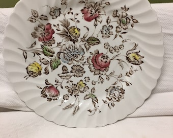 STAFFORDSHIRE BOUQUET plate by Johnson Brothers