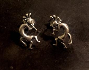 kokopelli stud earrings , kokpelli sterling silver earrings, kokpelle earrings, kokopelli jewelry, kokpelli, fertility earrings, fertility