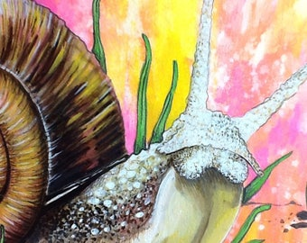Psychedelic Dream Snail Original Painting
