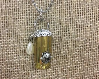 Handmade Bullet Birdhouse Necklace