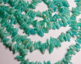 Amazonite gemstone - bead - full strand - stick - point - AA quality -AG1