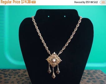 ON SALE Vintage Retro Collectible Necklace 1940's Art Deco Coro Designer Signed Jewelry Old Hollywood Glam