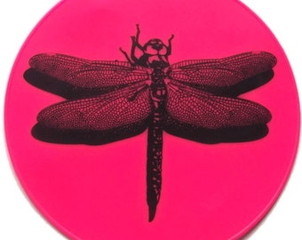 Pink Silicone Dragonfly Table Decor Table Mat Table Trivet Kitchen Hot Pad Kitchen Decor
