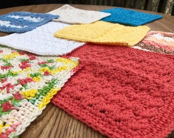 Homemade 100% cotton Dish Cloth or Washcloth
