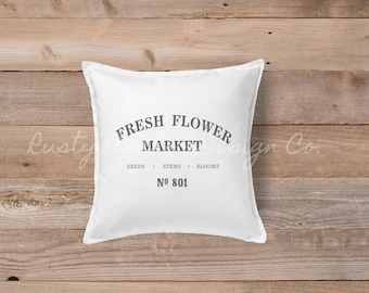 Fresh Flower Market pillow