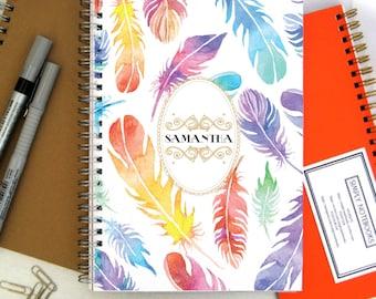 Carnet de notes - grand cahier - Journal - cahier A4 - Journal à la main - journal intime - carnet de croquis - cadeau pour ami School Journal