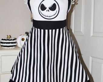 Nightmare Before Christmas Jack Halloween Apron