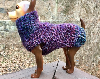 Celestial Tones Dog Sweater, blue dog sweater, knit dog sweater, dog sweaters, small dog sweater, small dog sweaters, dog coats, large dog
