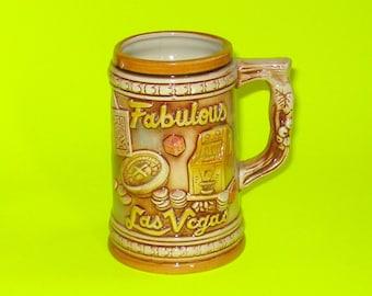 Vintage Fabulous Las Vegas Souvenir Stein Mug