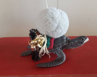Turtle Pin cushion totem ornament