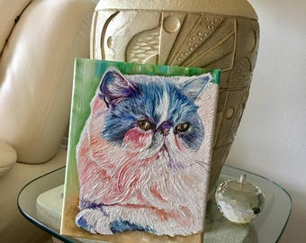 Custom cat painting, custom animal painting, cat art, cat portrait, pet painting, pet lovers, customer pet painting