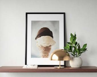 Ice Cream Painting Ice Cream Art Ice Cream PRINT Ice Cream - Art Print - from original painting by J Coates