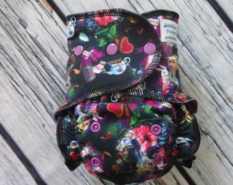 One Size Stay Dry Fitted Cloth Diaper in Alice by Soothe Baby