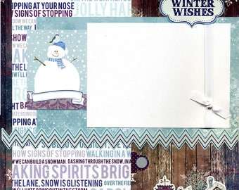 Winter Wishes - Premade Scrapbook Page