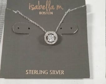 Vintage used isabella streling silver necklace