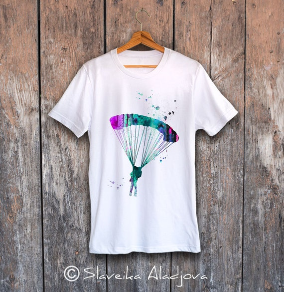 Squid T-shirt, Unisex T-shirt, ring spun Cotton 100%, watercolor print T shirt, T shirt art, T shirt Squid ,XS, S, M, L, XL, XXL