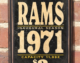 Virginia Commonwealth Rams Basketball Richmond Wall Art Sign Plaque Gift Present Home Decor Vintage Style Rowdy Rodney Richmond VC Antiqued