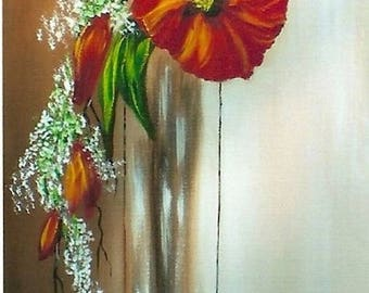 """Painting on canvas """"Poppies"""""""