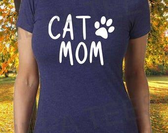 Cat mom, Cat mom tee shirt, Cat mom shirt, Mom of cats shirt, Cat t shirt, Womens cat mom shirt, Cute cat mom shirt