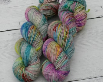Mad As A Hatter - Speckled Yarn - Hand Dyed Yarn - Speckled Yarn - Choose Your Base - Dyed to Order - Knitting Yarn - Direful Yarns
