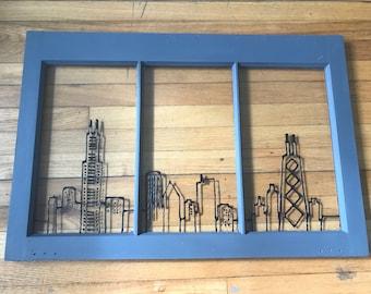 Chicago Skyline Window Decor