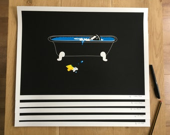 The Poisoned Duck screen printed poster 35x50cm 4 layers