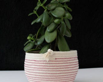 "Handmade Rope ""tumble"" pots // rope bowls / rope baskets / rope planter / rope vessel / cotton bowl / contemporary interiors"