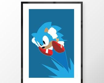 Sega- Sonic The Hedgehog Print