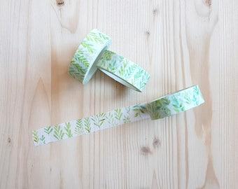 Cute Pastel Leaves Washi Tape - Leaves Washi Tape - Pastel Leaf Washi Tape - Japanese Masking Tape - 10 mt