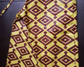 Gold diamond patterned pants