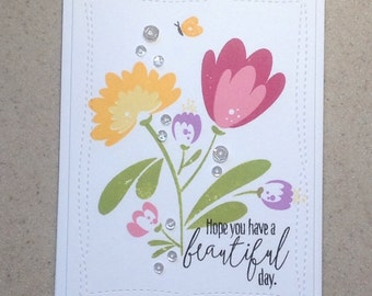 Modern All Occasion Note Card, Thinking of You Card, Thank You Card, Birthday Card, Handmade Card