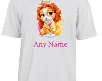 Personalised Cute Puppy/Dog T Shirt  *Choice of name colours*