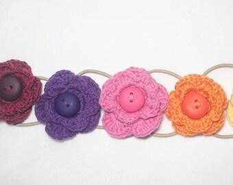 Elenor - Crochet Flower Hair tie