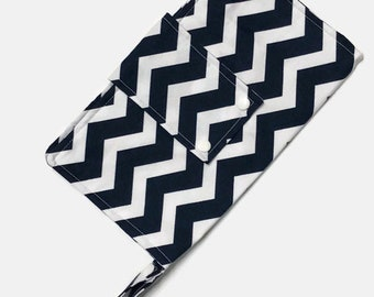 Nappy Diaper Clutch - Navy Chevron - CLEARANCE