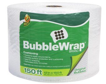 Single Roll Bubble Wrap Original Protective Packaging 12 Inches Wide By 150 Feet Long, Big Bubble Wraps For Cushioning And Protect Packaging