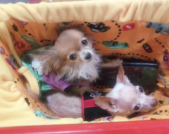 Fleece or Flannel Dog Shopping Cart Cover